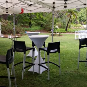 5 cocktail tables x 10 stools_$225